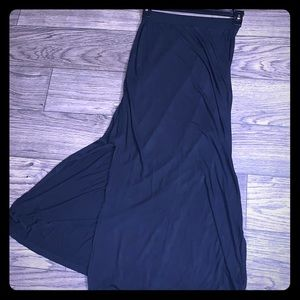 Super Soft long black skirt